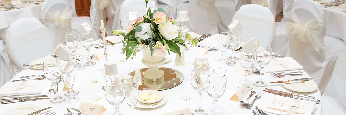 Wedding table at Stower Grange.
