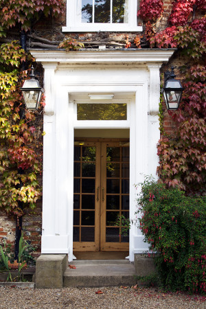 Stower Grange front door in the Autumn.