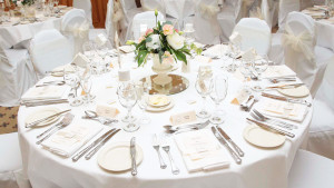Elegant wedding reception at Stower Grange.