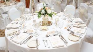 Elegant wedding reception at Stower Grange.