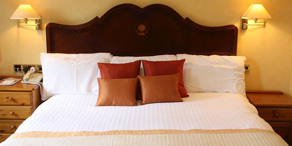 Bedroom in Stower Grange Hotel.